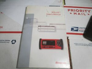 Snap On Solus Scanner User S Manual Owners Book
