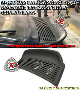 Rs Style Rear Trunk Spoiler Fiberglass Fit 05 12 Porsche 997 911 Carrera