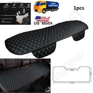 Black White Car Rear Seat Cover Cushions Pu Leather For Interior Accessories