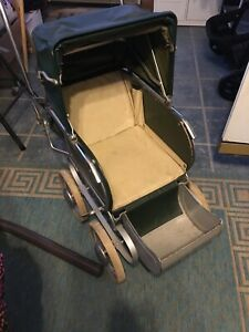 Vintage Collier Baby Doll Buggy Stroller Carriage Or Photo Prop