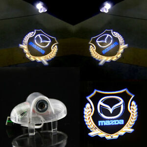 2x Hd Led Door Lights Laser Logo Projector Lamps For Mazda 6 Rx8 A8 Rx8 Rx 8 Cx9