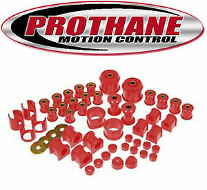 Prothane 14 2005 Total Suspension Bushing Kit For 1989 1994 Nissan 240sx Red