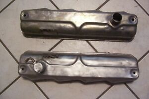 Very Good Pair Of 1962 1965 Dodge 318 A Poly Valve Covers 2 Mounting Holes