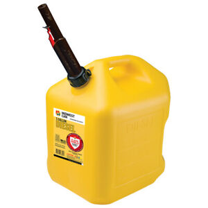 Midwest Can Flameshield Safety System Plastic Safety Diesel Can 5 Gal