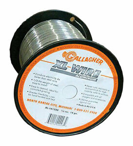 Gallagher 14 Gauge Aluminum 1 4 Mi Electric Fence Wire 1320 Ft Silver