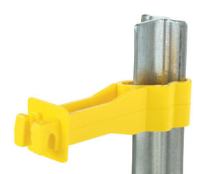 Fi shock Electric Electric Fence Insulator T post Reverse 25 Pk Yellow