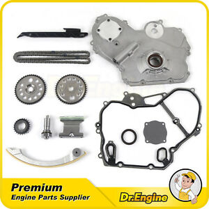 Timing Chain Oil Pump Cover Gasket Kit For 00 10 Saturn Pontiac Chevy 2 0l 2 2l