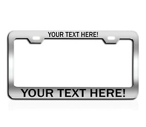Custom Chrome Camera License Plate Frame Personalized With Laser Engraved