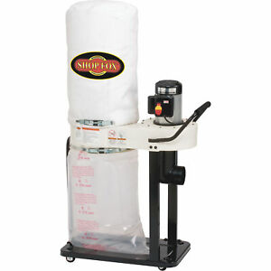 Shop Fox Dust Collector 1 Hp 800 Cfm Model W1727
