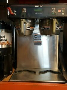 Bunn Dual Icb Twin Tall Infusion Series Coffee Brewer Maker Stainless Hot Water