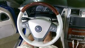 04 09 Cadillac Xlr Shale Dark Wood Steering Wheel Oem No Bag