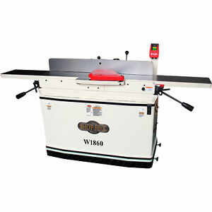 Shop Fox 8inx76in Parallelogram Jointer With Helical Cutterhead And Mobile Base