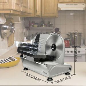7 5 Blade 150w Commercial Meat Slicer Electric Deli Slice Veggie Cutter Kitchen