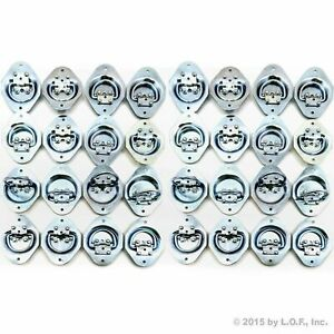 40 Recessed Tie Down D Rings 1 4 Dia Lashing Flatbed Trailer Towing Tow Truck