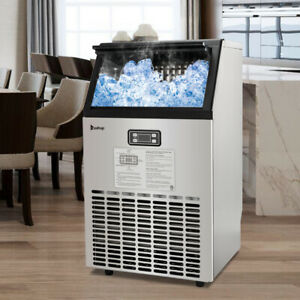 Portable Ice Maker Commercial Built in Auto Ice Cube Stainless Steel Machine Usa
