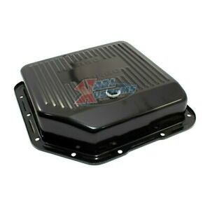 Black Steel Chevy Bop Gm Turbo 350 Th350 3 Deep Style Transmission Pan Finned