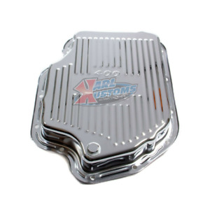 Chrome Steel Chevy Bop Gm Turbo 400 Th400 Stock Depth Transmission Pan Finned