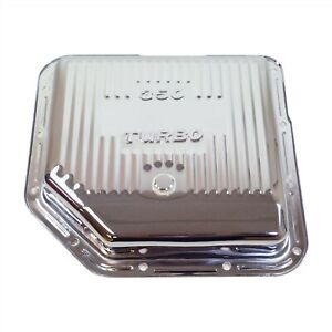 Chrome Steel Chevy Bop Gm Turbo 350 Th350 Stock Depth Transmission Pan Finned