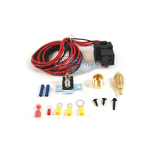 Temperature Controlled Thermostatic Switch Electric Fan Relay Kit 185 170
