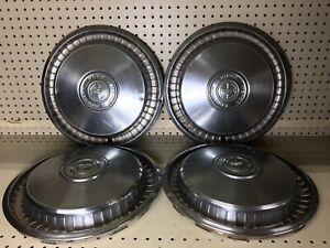 Ford Motor Company Vintage 15 Metal Wheel Cover Hubcaps Set Of 4