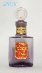 Beautiful Antique Sca Sun Colored Amethyst Crab Apple Perfume Bottle W Stopper