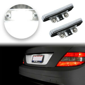 2pcs License Plate Led Light Lamp Error Free For Mercedes Benz W203 5d W211 W219