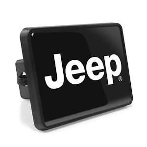 Jeep Uv Graphic Black Metal Plate On Abs Plastic 2 Inch Tow Hitch Cover