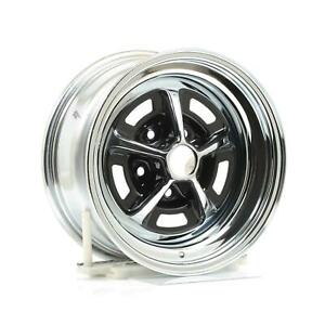 Wheel Vintiques 52 Olds Ss1 Chrome W Black Powdercoated Slot Wheel 15 x7 Pair
