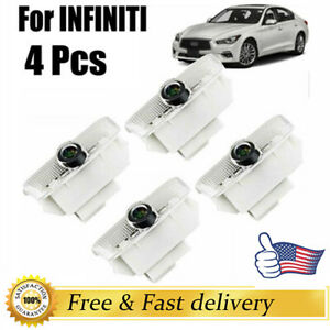 4pcs Led Laser Projector Logo Door Courtesy Shadow Light Lamps For Infiniti Us