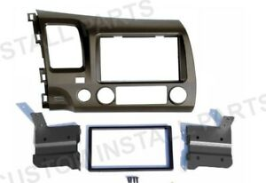 Taupe Radio Stereo Install Double Din Dash Kit Panel Fits 2006 2011 Honda Civic