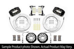 Wilwood Dynapro Radial Front 12 Inch Slotted Big Brake Kit Black For Wrx 02 14