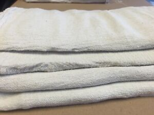 1000 Industrial Commercial Shop Rags Cleaning Towels White