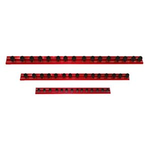 Vim Tools Magrail Tl 1 4 Drive 16 Red Magnetic Socket Rail W 25 Clips