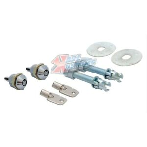 Deluxe Chrome Stainless Locking Style Hood Pin Kit