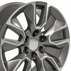 20x9 Wheels For Gmc Sierra Chevy Silverado Tahoe Yukon 20 Inch 6x139 Rims Set 4