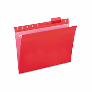 Universal Hanging File Folders 1 5 Tab 11 Point Stock Letter Red 25 box