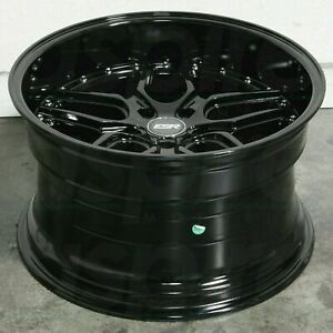 Esr Cs15 Wheels 18x9 5 35 5x114 3 Gloss Black 18 Inch Deep Dish Rims Set 4