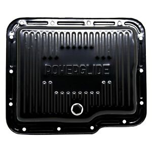Gm Chevy Powerglide Black Automatic Transmission Pan Stock Capacity W Drain
