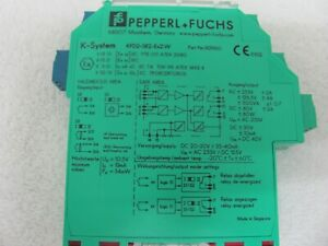 Pepperl Fuchs Kfd sr2 ex2 w 132960 Amplifier Isolated Switch
