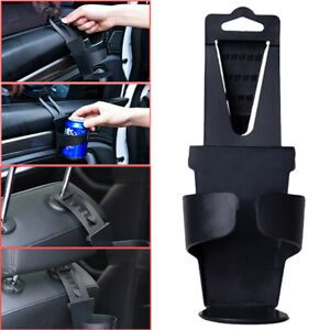 New Universal Vehicle Car Truck Door Mount Drink Bottle Cup Holder Stand Black