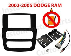 Car Stereo Radio Double Din Installation Dash Kit Fits 02 03 04 05 Dodge Ram