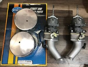Dual Vw Solex Kadron H40 44eis Carbs With Manifolds New Empi Filter Kit