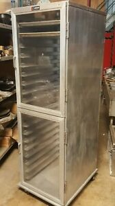Lockwood Enclosed Split Clear Door Full Sheet Pan Retarder Cabinet Aluminum