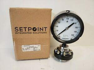 New Old Stock Ashcroft 4 1 2 Pressure Gauge 45 1279 ss 04l 200 W Base C1018