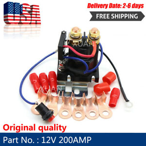 Dual Battery Isolator 12v 200amp Auto Battery Emergency Switch Controller Relay