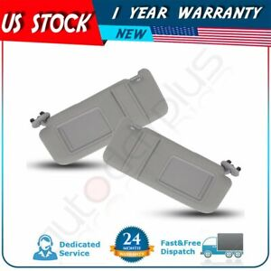 Sun Visor Left Right Pair Gray For 2007 2011 Toyota Camry Without Vanity Light