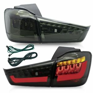 Customized Smoked Led Tail Lights Assembly For 11 19 Mitsubishi Outlander Sport