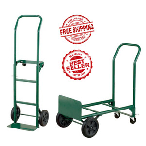 Dolly 400 Lb Capacity 2 in 1 Convertible Hand Truck Trolley Moving Aid Cart New
