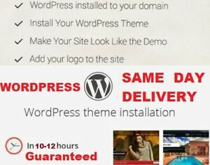 Wordpress Theme Installation incl Demo Content Plugins Install Your Website