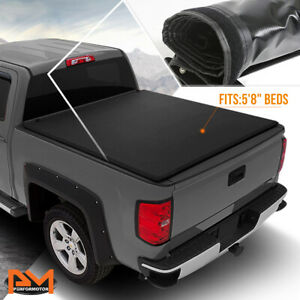 Vinyl Soft Top Roll Up Tonneau Cover For 07 14 Silverado Sierra 5 8 Short Bed